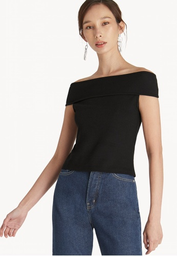 349a33f6d02e84 Buy Pomelo Off Shoulder Top - Black Online on ZALORA Singapore