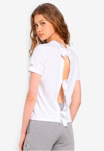 Jack Wills white Hazelcroft Tie Back T-Shirt 71698AA43906E1GS_1