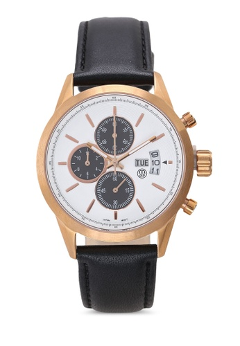 Massa Collections white Nobler Leather White Rose Sapphire Glass Watch 8ADB3ACE628260GS_1