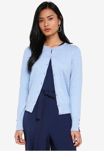 Dorothy Perkins blue Chambray Cotton Cardigan 29908AA87892E7GS_1