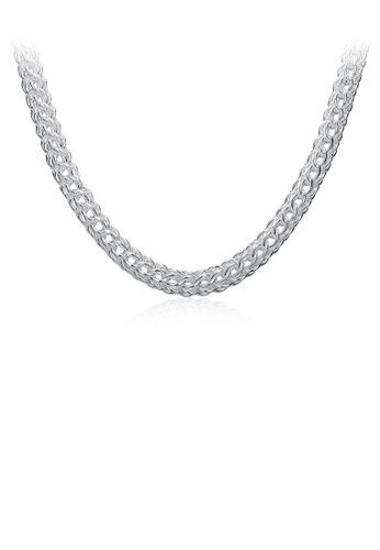 Glamorousky silver Fashion and Simple Necklace 376A1AC661E773GS_1