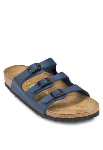 Florida 三esprit門市地址帶扣環平底涼鞋, 女鞋, 懶人鞋