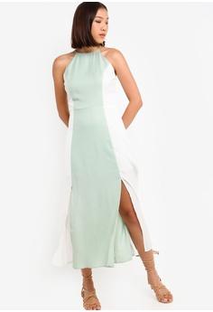 18dedd7bcf6 Something Borrowed green Cut In Double Slit Maxi Dress 210C4AAFCD8B79GS 1