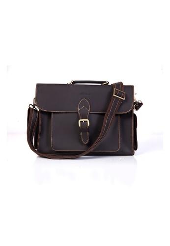 EXTREME brown Extreme Vintage Leather Briefcase D1F4FAC24AF1D3GS_1
