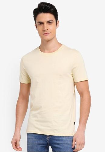 Burton Menswear London 黃色 素色短袖T恤 397BDAA334029BGS_1