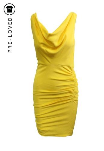 Alice Olivia Yellow Pleated Dress