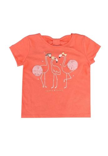 GAP pink Tulle Short Sleeves Tee B23BEKA387FF27GS_1