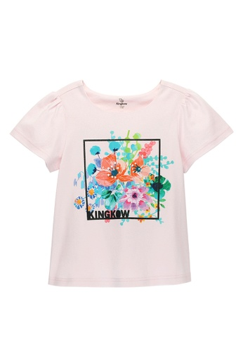 Kingkow pink Theme Printed Cotton T-shirt 2.5-14 years AF491KAB038339GS_1