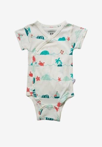 Babysoy green Sea Short Sleeve Kimono Onesie 48859KAB51CBDCGS_1