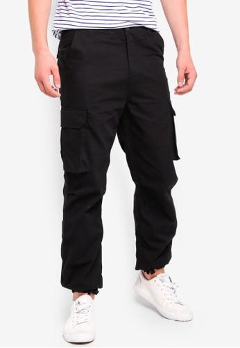Factorie black Straight Leg Cargo Pants 644F4AA94C34A3GS_1