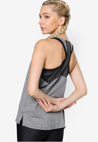 Under Armour grey Knockout Mesh Back Tank Top F3498AA94865EFGS_1