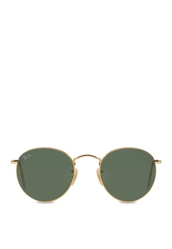 Ray-Ban green and multi and gold Round Metal RB3447 Sunglasses  RA370GL08SBNSG 1 89a6185681