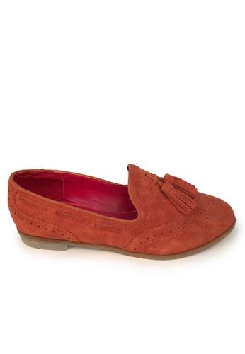 Sunnydaysweety red On Sales  red tassels flat shoesC012910 SU443SH75PKQHK_1