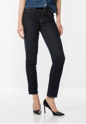 Levi's blue 714 Straight Jeans LE843AA74JGZSG_1