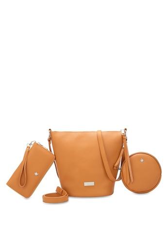 Swiss Polo 褐色 Ladies 3-in-1 Bucket Bag 6A3B5AC4629C17GS_1