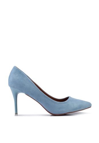 nose blue Spray Heel Suede High Heel Pumps 6E738SHAB8C0E0GS_1