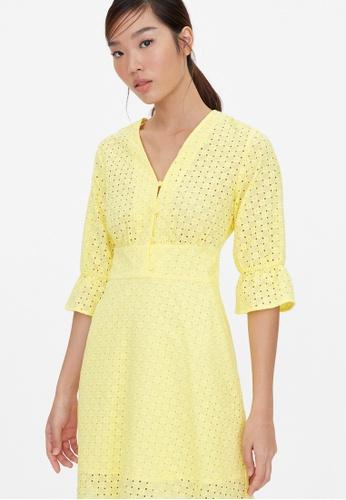 Pomelo yellow Purpose Mini Eyelet Dress - Yellow B6158AA94E4B05GS_1