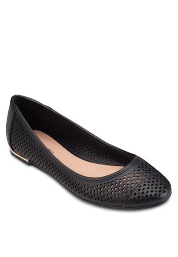 Linskey esprit台灣網頁沖孔平底鞋, 女鞋, 鞋