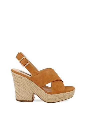 London Rag brown Helen Heel Sandals 284E1SH6262A84GS_1