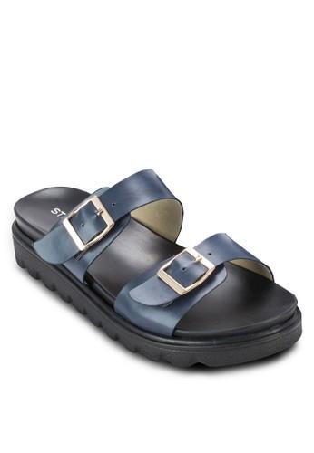 雙zalora 心得扣環寬帶涼鞋, 女鞋, 涼鞋