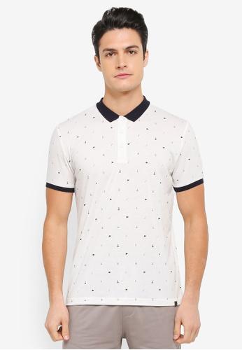 JAXON white Nautical Motif Polo Shirt BD3BCAA25A5525GS_1