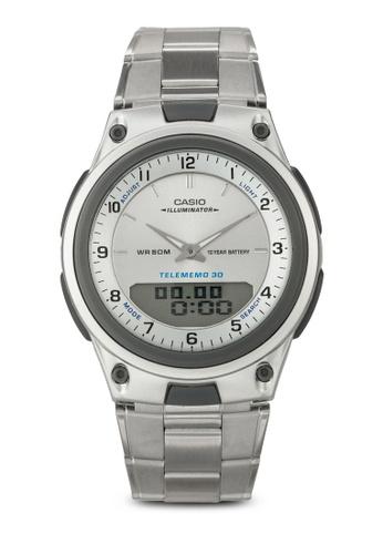 Casio silver Casio Men's AW-80D-7A Sports Chronograph Alarm Watch CA843AC39OKIMY_1