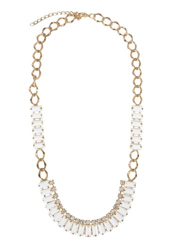 Acrylic Stone Necklace with Curb Chain, 飾esprit香港分店品配件, 項鍊
