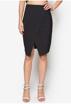 Collection Asymmetric Panelled Skirt