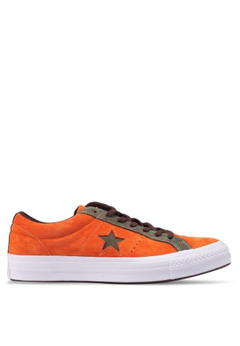 Converse orange One Star Vintage Suede Ox Sneakers 46F51SHA6F6FCEGS_1