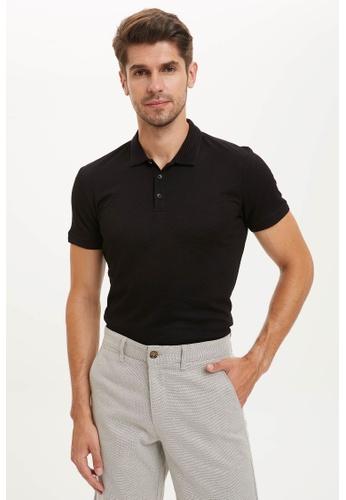 DeFacto black Short Sleeve Polo T-Shirt B2CE3AA9A0A0FAGS_1