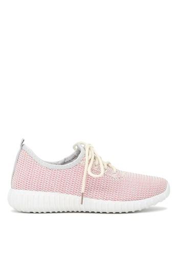 London Rag 粉紅色 女士粉红混色透气网面运动鞋 E0698SH89513E3GS_1