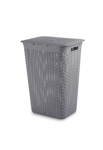 HOUZE grey HOUZE - 60L Rattan Tall Laundry Basket (Grey) CEA4FHLB656A4BGS_1