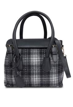 Plaids Top Handle Bag