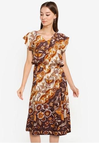 Rianty Batik multi and beige Daster Carisa Collar 00BD9AA09BEE7EGS_1