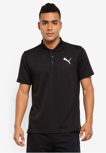 Puma black ACTIVE Pique Polo Shirt CAA0BAA58A6767GS_1
