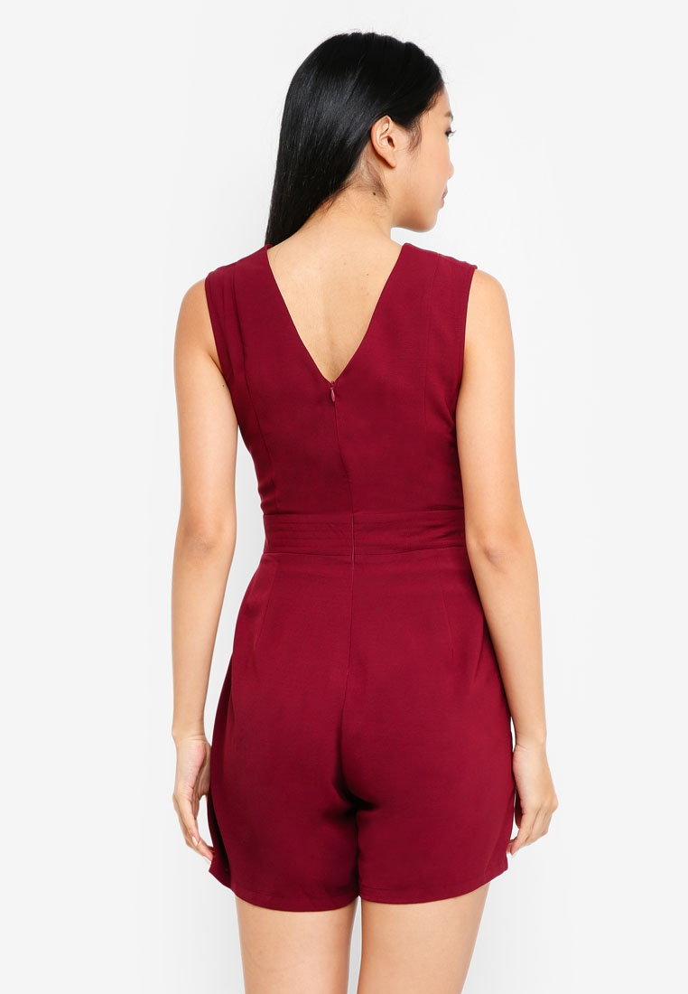 ZALORA Playsuit Lace ZALORA Trim Maroon Lace Trim Playsuit Maroon ZALORA Lace Trim Playsuit rqSrfxUP