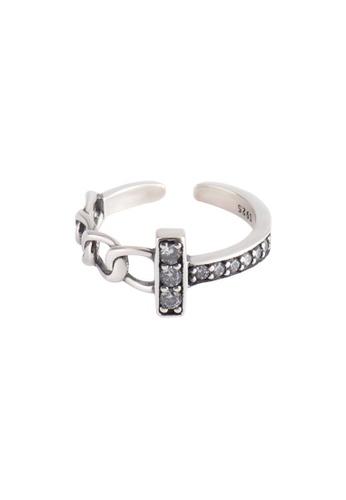 OrBeing white Premium S925 Sliver Geometric Ring B664DACCC92D70GS_1