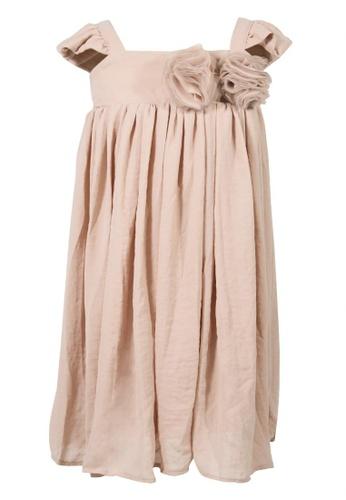Spinkie beige Dreamy Doll Midi Dress 83799KA540B55DGS_1
