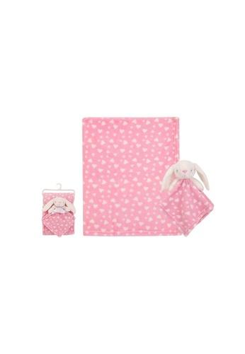 Little Kooma pink Luvena Fortuna Plush Blanket n Security Blanket Set Pink Bunny S19630 5D52BKC6AB0345GS_1