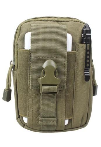 Hamlin green Atera Tas Pinggang Mini Pria Tactical Waistbag Army Look Material Canvas ORIGINAL - Green Army D54D6ACAB5B744GS_1