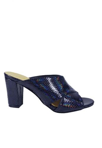 Jacque blue Fila Orly Snake Skin Heel JA262SH0RHVOMY_1