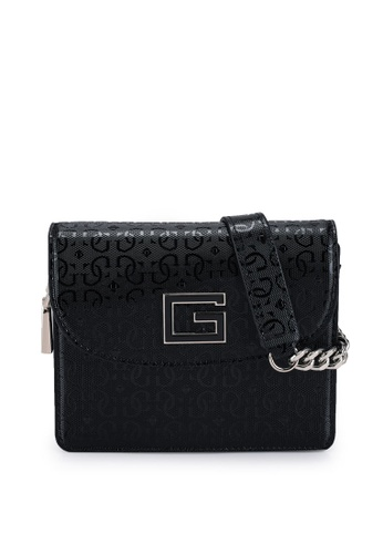 GUESS black Blane Mini Flap Crossbody Bag 4266AAC45C76C9GS_1
