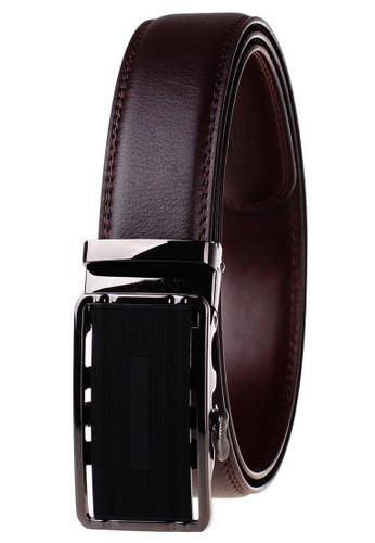 FANYU black Leather Dress Belt With Automatic Buckle belt 3D192ACF04F193GS_1