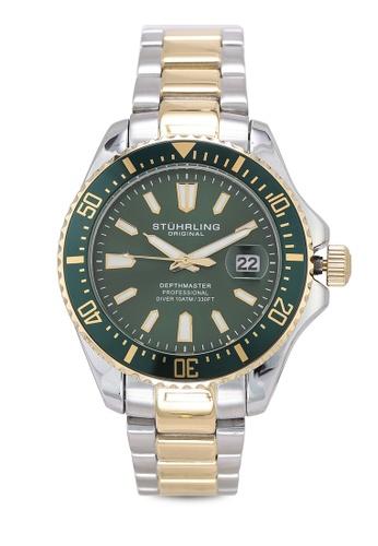 Stuhrling Original silver Aquadiver 3950A Watch 1F273AC8B9CD8CGS_1