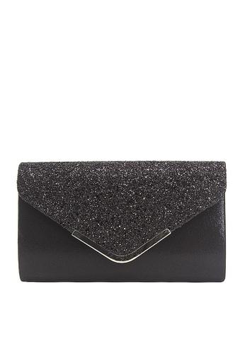 Twenty Eight Shoes black VANSA Sequins Bi-Fold Party Bag VBW-Ps679 F7DF3AC6B67C37GS_1