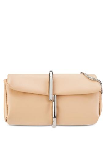 Something Borrowed beige Round Ring Hook Crossbody Bag 69F8CZZE656935GS_1