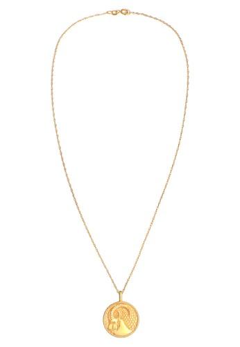 Elli Germany gold Perhiasan Wanita Perak Asli - Silver Kalung Zodiac Capricorn Coin Lapis Emas 2C443AC9DB178CGS_1