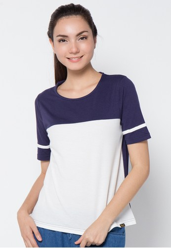 Gaff navy Reena T-shirt GA640AA37IRYID_1
