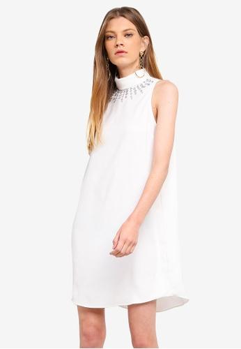 River Island white Sheydon Embroidered Swing Dress F686EAAC8E9E46GS_1
