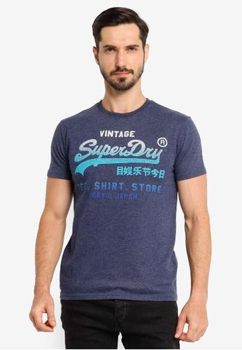 SUPERDRY blue Vl Fade T_Shirt Store Tee AABCEAAC64705EGS_1